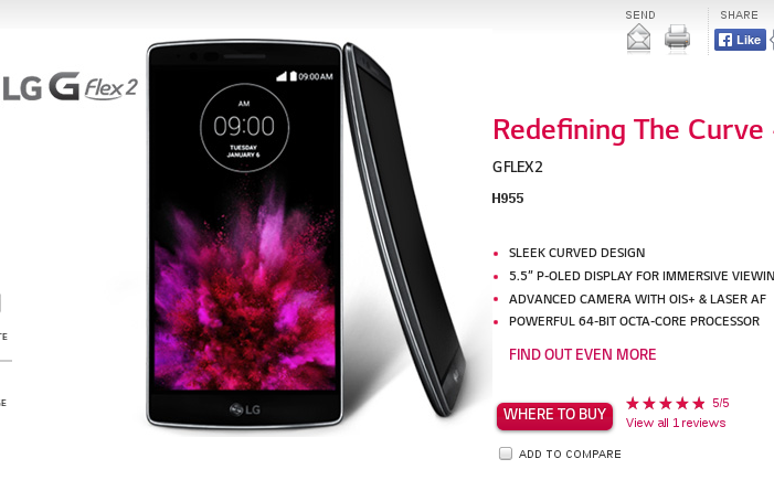 LG G Flex 2 to launch in India in 3 weeks, price Rs 50,000