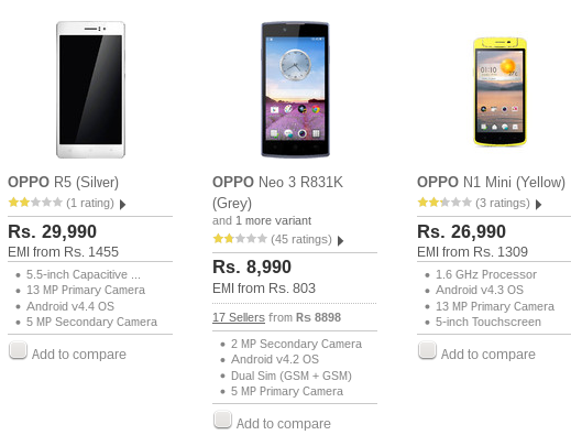 Oppo offers anniversary discounts on its phones this month