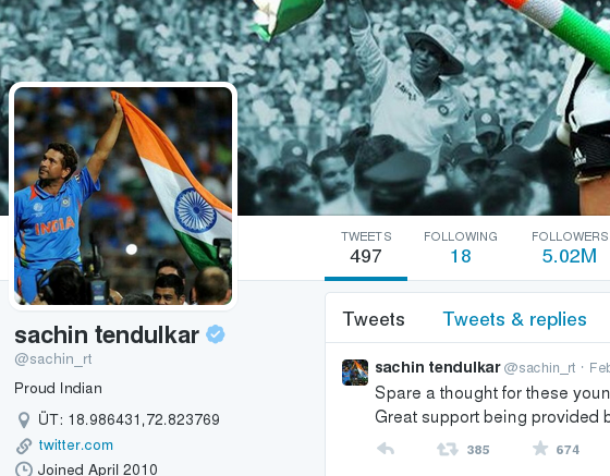 Will Sachin overtake Virat Kohli on Twitter?