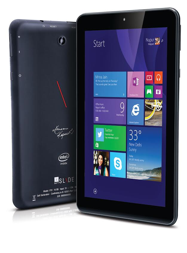 iBall launches excellent Windows tablet at a throwaway price – Slide i701