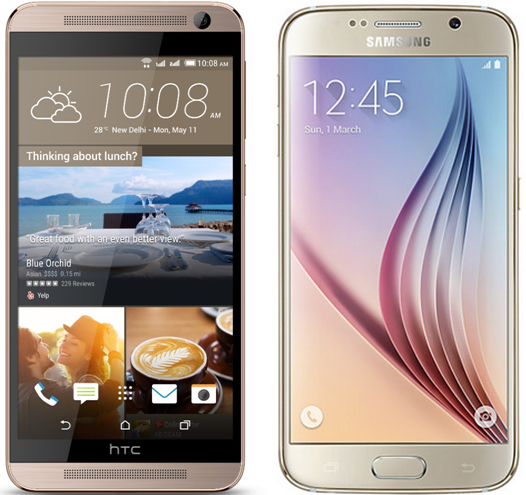HTC One E9 Plus vs Samsung Galaxy S6