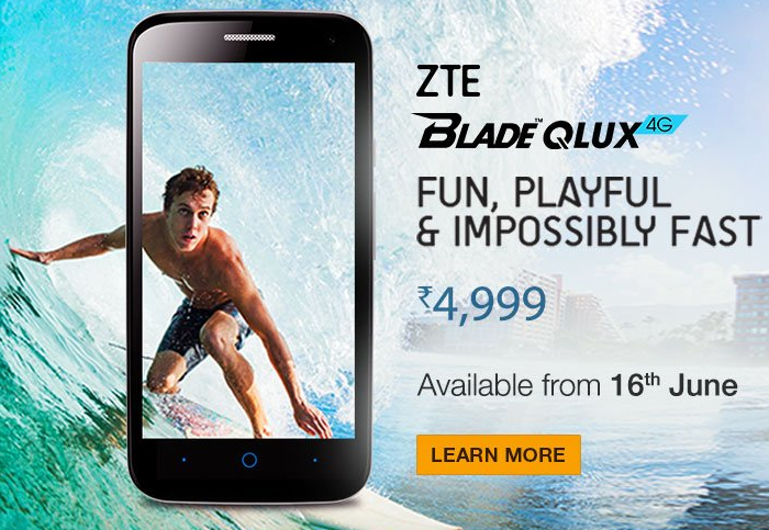 ZTE-Blade-Q Lux, Cheapest 4G LTE Phone in India
