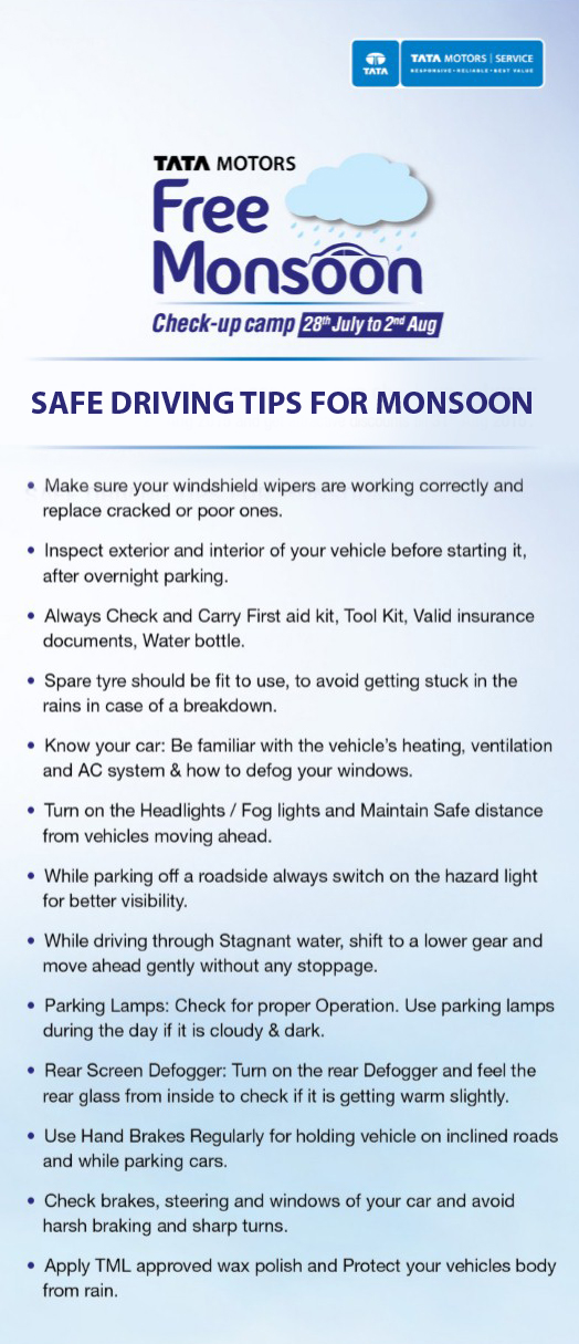 Image - Safe Driving Tips from Tata Motors for Monsoon