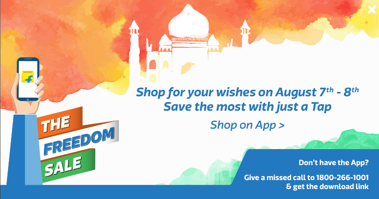 Flipkart Freedom Sale offers Independence Day discounts on smartphones, clothes and other items