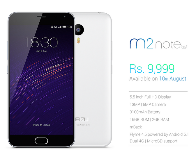 Move over Lenovo K3 Note, Yureka Plus; Meizu M2 Note priced at just Rs 9,999 in India