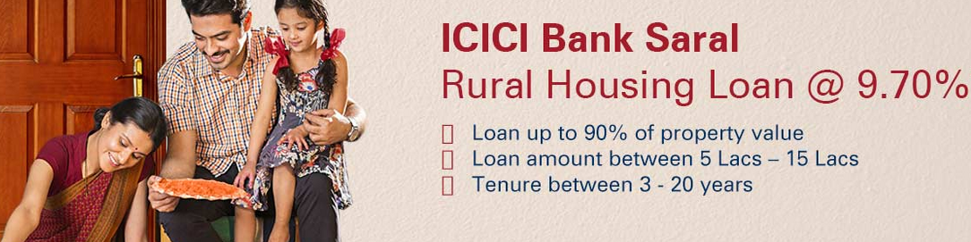 ICICI Bank offers rural home loans at base rate