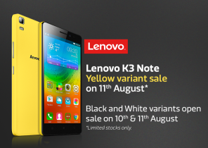 Special Yellow edition of Lenovo K3 Note on sale on Tuesday