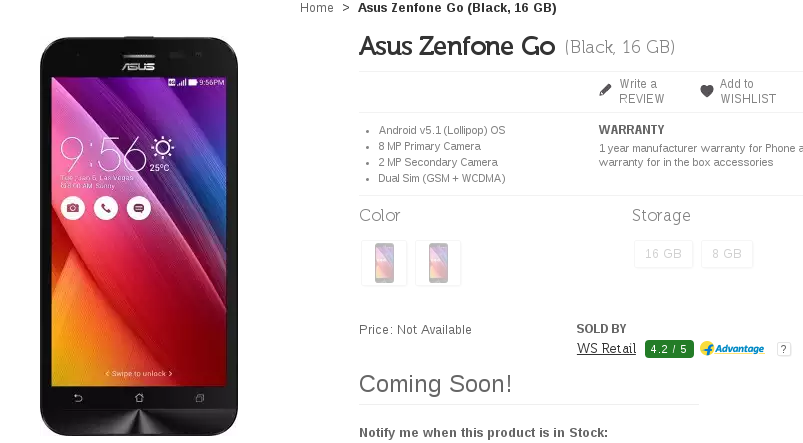 Flipkart to launch Asus Zenfone Go at a price Rs 6,999 in India?