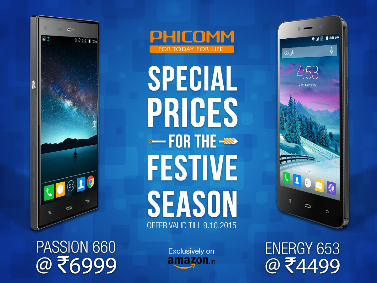 Phicomm cuts price of Lenovo K3 Note rival – Phicomm Passion 660 and Energy 653 in India