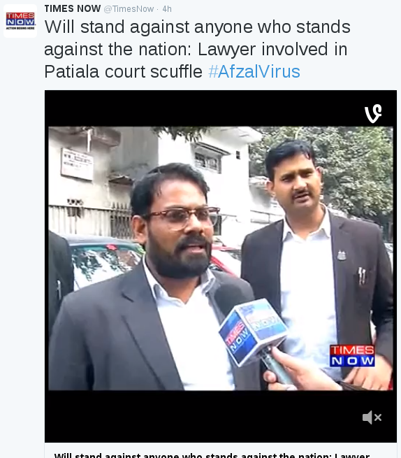Times Now criticizes nationalist lawyers, Twitter fans not amused