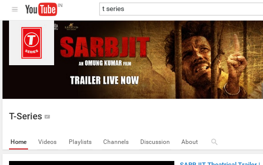 T-Series gets 1 crore followers on Youtube
