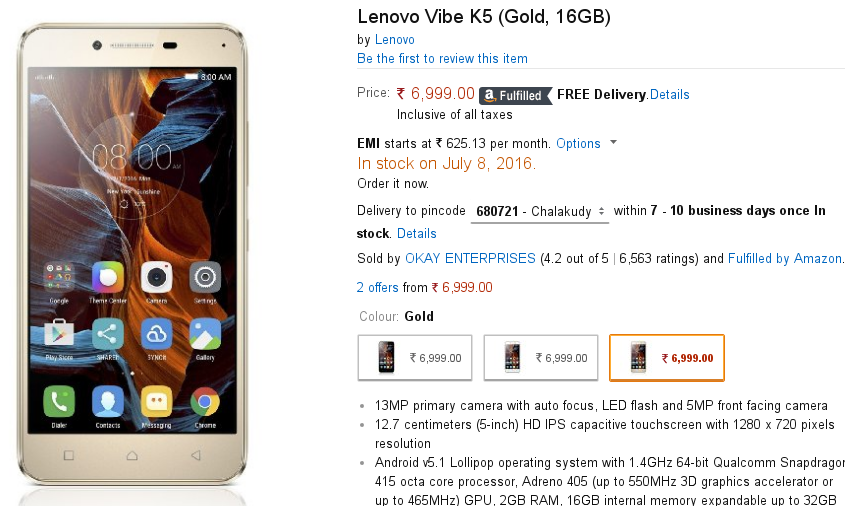 Why are there no user reviews for LeEco Le 2, Lenovo Vibe K5?
