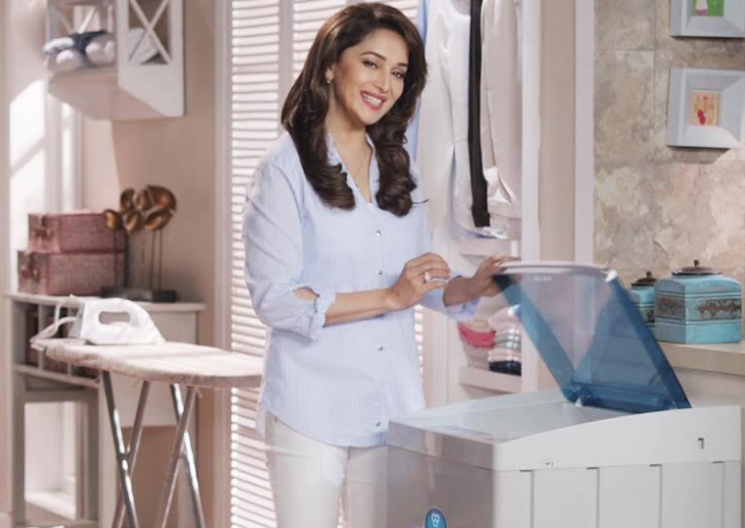 Intex washing machine commercial features Madhuri Dixit On-Air