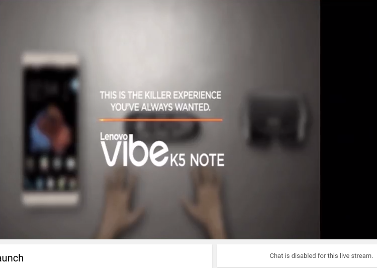 K5 Note: Lenovo disables Youtube chat after fans get nasty