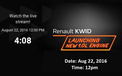 WATCH LIVE as Renault announces price of KWID 1000 cc