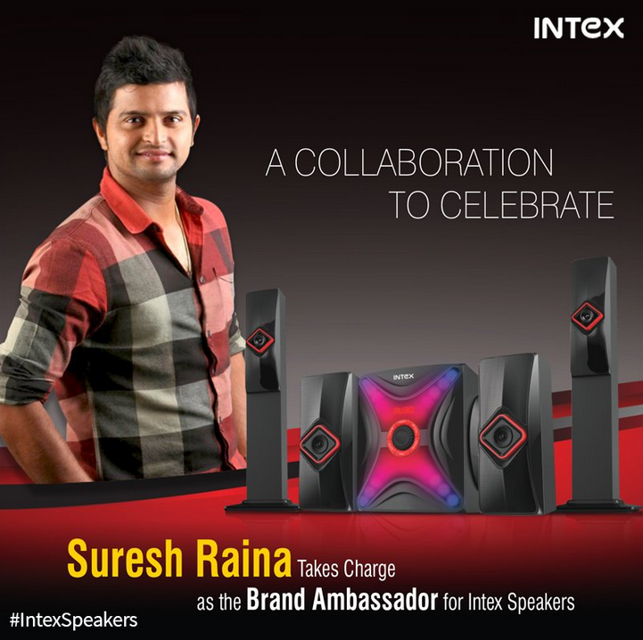Suresh Raina to be brand ambassador for Intex speakers