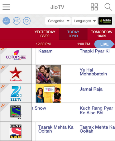 Reliance Jio increases no of channels on JioTV to 368