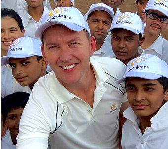 Brett Lee works towards a deafness-free India