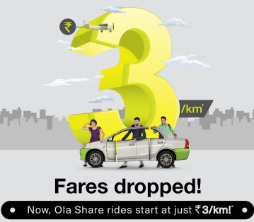 Ola offers taxi rides at just Rs 3 per km in Mumbai in share cabs