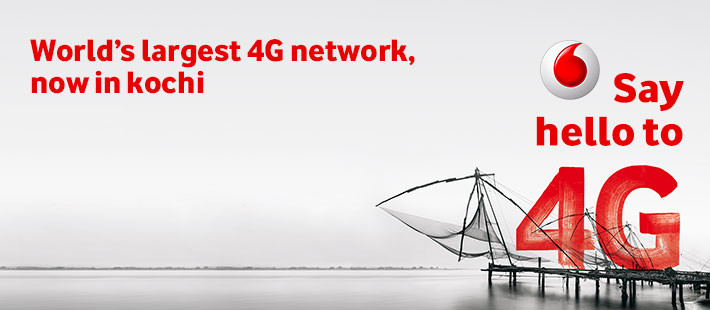 Enjoy Worlds Largest 4G Network in over 40 Countries with Vodafone