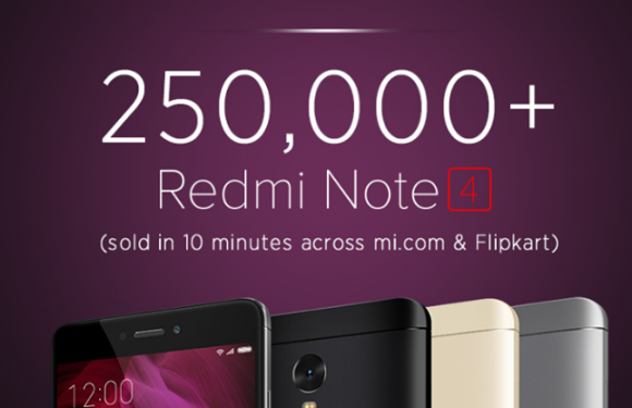 Redmi Note 4 sets new record with 2.5 lakh phones sold in 1 flash sale