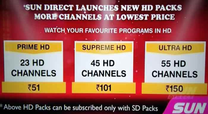 With new tech, Sun Direct launches India's cheapest HD packs
