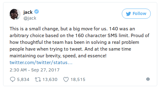 Twitter doubles 'word limit' to 280 characters