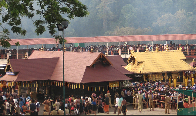 SC refers Sabarimala temple's ban on women to Constitution Bench