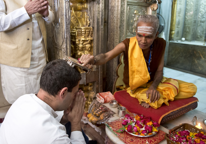 Is Rahul Gandhi rejecting his mother's secularism?
