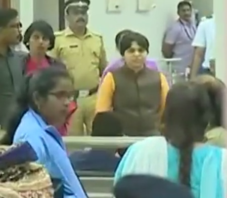 Trupti Desai unable to exit Cochin Airport as protesters swell
