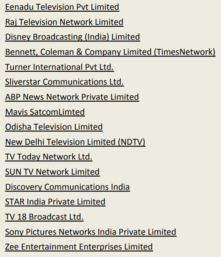 TRAI RULES: Broadcasters announce 300+ channel packs, Star highest at 72, TV18, Zee at 50