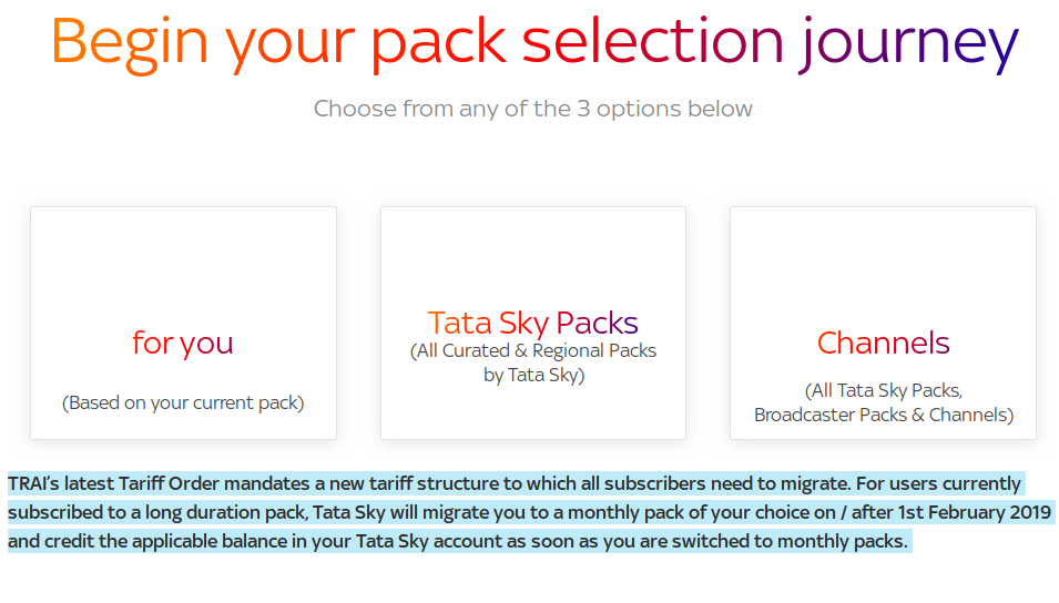 Tata Sky cancels all long-duration packs, yearly plans