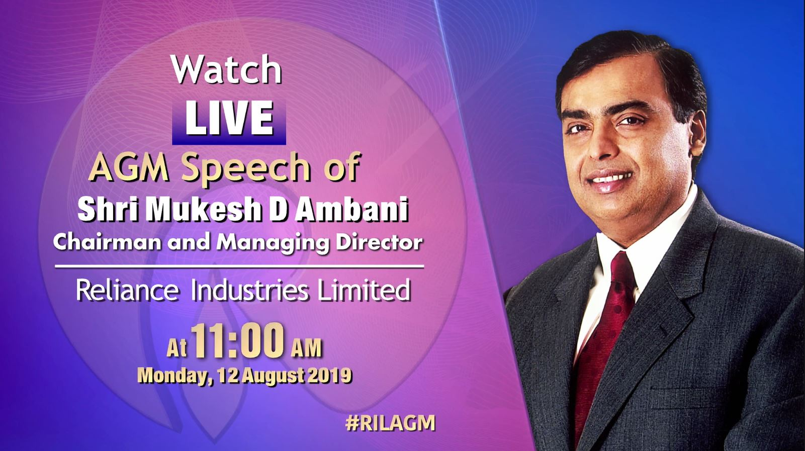 Watch Live: Mukesh Ambani AGM speech to unveil Reliance GigaFiber plans
