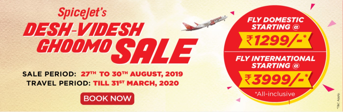 SpiceJet starts domestic sale, tickets start at Rs 1,299