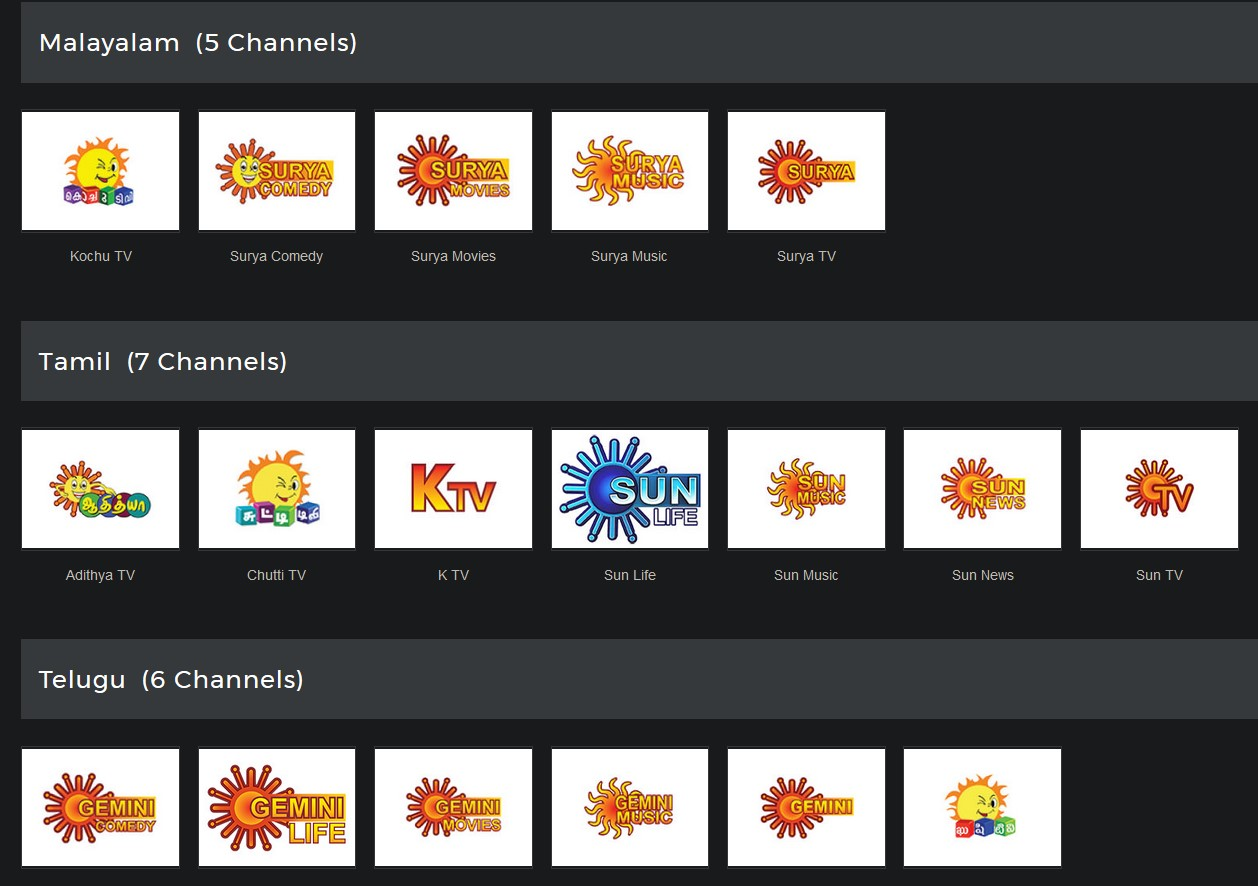 25 Sun Group channels made free for Sun Direct users