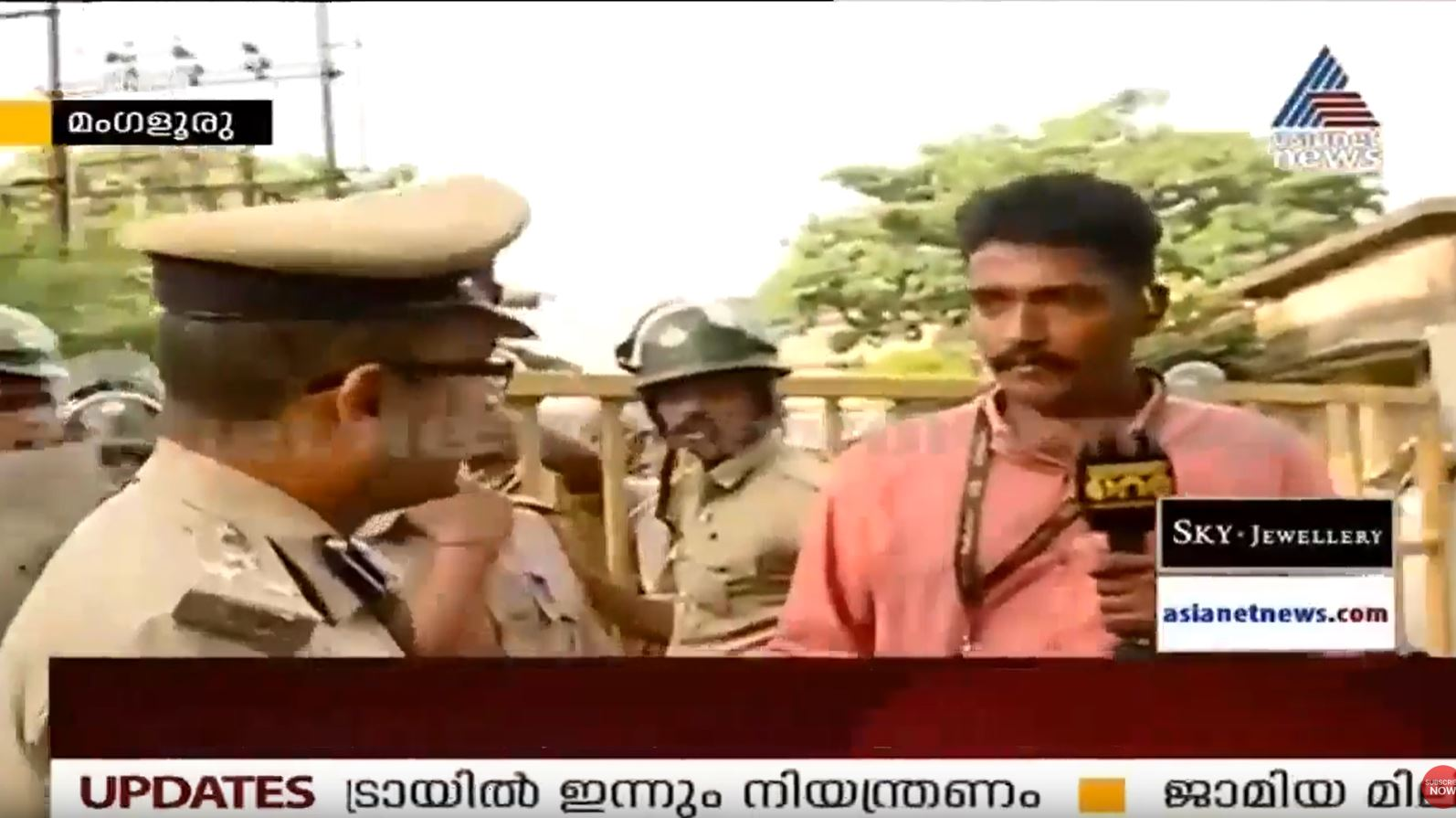 TV Journalists detained by Mangalore police