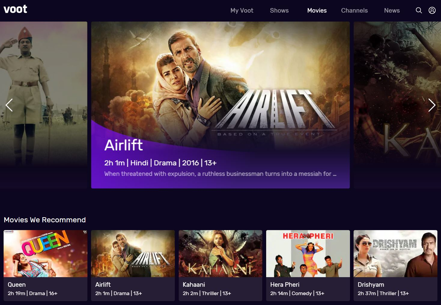 Viacom18 testing Voot Premium with international content