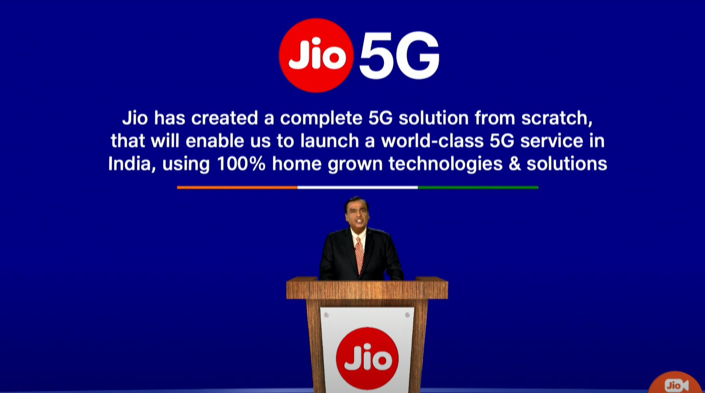 Reliance Jio claims to have developed in-house 5G solution
