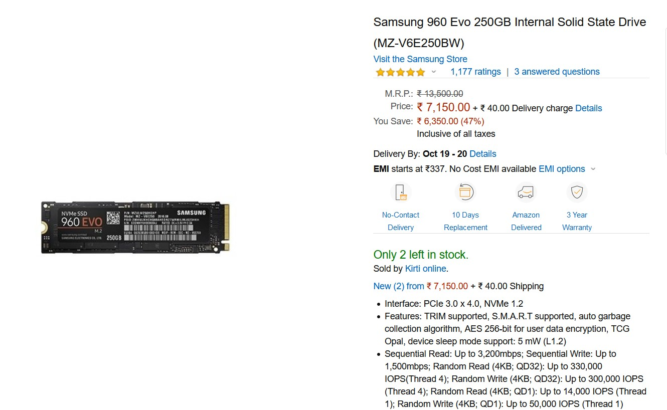 Festival Offer: Samsung announces discounts on NVMe, SSD and MicroSD range